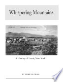Whispering Mountains  A History of Lewis  New York