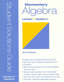 Student Solutions Guide to Accompany Elementary Algebra