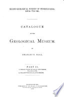 Catalogue of the Geological Museum: 2. Palaeontological specimens