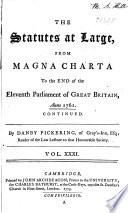 Statutes at Large       43 v       From Magna charta to 1800