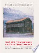 Norske tømmerhus frå mellomalderen 2