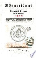 Schematismus für das Königreich Böhmen auf das Schaltjahr 1820