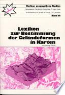 Lexikon zur Bestimmung der Geländeformen in Karten