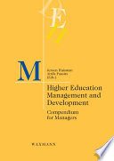 Higher Education Management and Development  Compendium for Managers