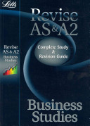 Letts Revise AS and A2 - Business Studies