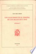 Los galicismos en el espa  ol de los siglos XVI y XVII