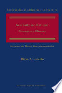Necessity and National Emergency Clauses Book PDF