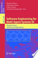 Software Engineering for Multi Agent Systems III