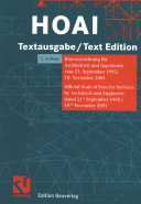 HOAI Textausgabe / Text Edition