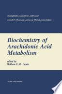 Biochemistry Of Arachidonic Acid Metabolism book