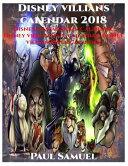 Disney Villians Calendar 2018   Disney Villian Book Calendar  Disney Villian Wall Calendar  Disney Villian Paper Calender