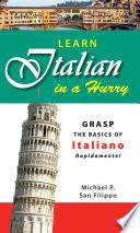 Learn Italian in a Hurry Book PDF