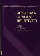 Classical General Relativity