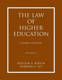 The Law of Higher Education  Rights and responsibilities of individual students