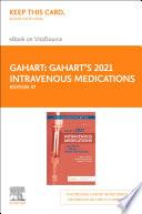 Gahart S 2021 Intravenous Medications E Book