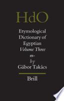 Etymological Dictionary of Egyptian
