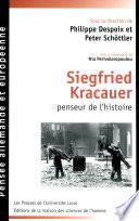 Siegfried Kracauer  penseur de l histoire