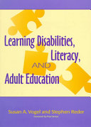 Learning Disabilities  Literacy  and Adult Education