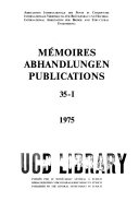 Memoires. Abhandlungen. Publications