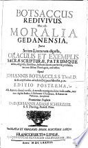 Ebook Botsaccus Redivivus. Hoc est: Moralia Gedanensia Epub Johann Botsack,Johann Adam Schertzer Apps Read Mobile