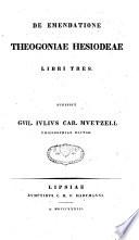 De emendatione Theogoniae Hesiodeae