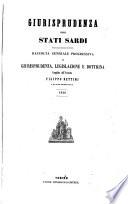 Giurisprudenza degli Stati sardi
