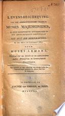 Levensbeschrijving van den wereldberoemden geleerde Moses Majemonides