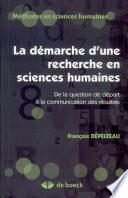 La d  marche d une recherche en sciences humaines