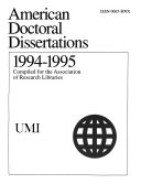 Index to American Doctoral Dissertations