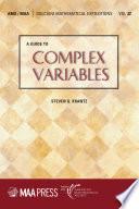Complex Variables [Pdf/ePub] eBook
