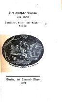 Der deutsche Roman um 1800