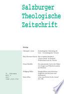 Salzburger Theologische Zeitschrift. 21. Jahrgang, 2