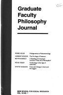 Graduate Faculty Philosophy Journal : ...