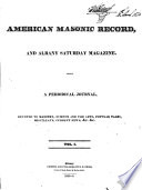 American Masonic Record  and Albany Saturday Magazine