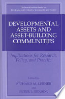 Developmental Assets and Asset Building Communities