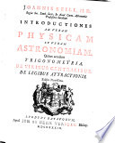 Introductiones ad veram physicam et veram astronomiam, quibus accedunt trigonometria