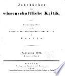 Jahrbücher für wissenschaftliche Kritik