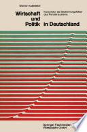 Wirtschaft und Politik in Deutschland