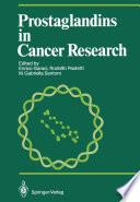 Prostaglandins In Cancer Research book