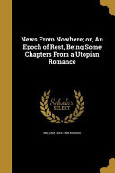 NEWS FROM NOWHERE OR AN EPOCH