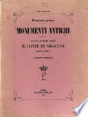 Monumenti antichi posseduti da Sua Altezza Reale il Conte di Siracusa descritti e pubblicati da Giuseppe Fiorelli