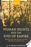 Human Rights and the End of Empire