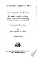 Dictionnaire de poche des langues fran  aise et anglaise