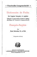 Dictionnaire de poche des langues française et anglaise