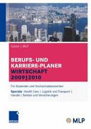 Gabler   MLP Berufs- und Karriere-Planer Wirtschaft 2009   2010