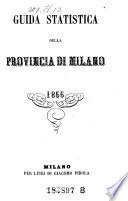Guida Statistica Della Provincia Di Milano  etc