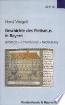 Geschichte des Pietismus in Bayern