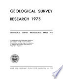 Geological Survey Research  1975