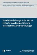 Sonderbeziehungen als Nexus zwischen Au  enpolitik und internationalen Beziehungen