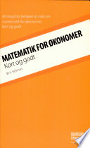 Matematik for   konomer   kort og godt